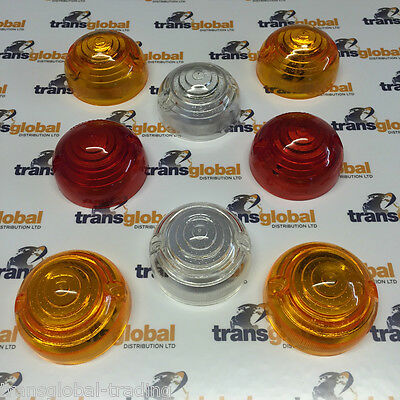 Land Rover Series 2a 3 Complete Light Lens Set of 8 - Bearmach Parts