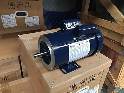 1.5 HP ELECTRIC MOTOR  56C SINGLE PHASE TEFC 115/230 Volt 3450 RPM  New