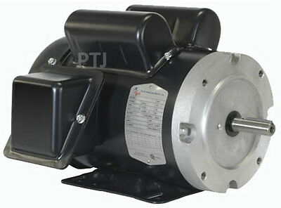 2 hp electric motor  56c single phase tefc 115/230 volt 1725 rpm new