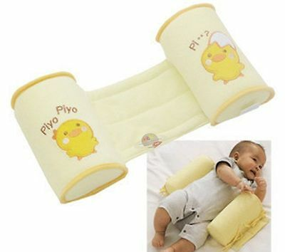 Infant Baby Toddler Safe 100% Cotton Anti Roll Pillow Sleep Flat Head UK