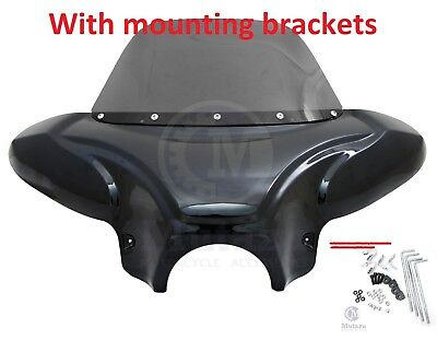 Universal Front Fairing Batwing Windshield for most Honda Shadow Rebel 750 600