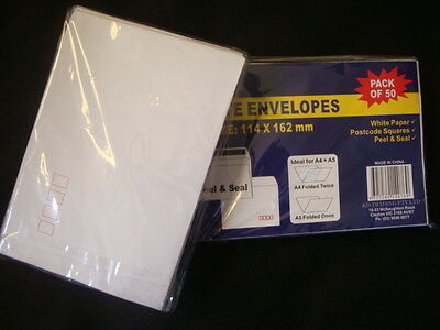 BULK 600 Peel&Seal Envelopes C6 Stationery/Office/Post White Envelope new