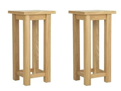 Pair Of Compact Small Bedside Tables Tall Slim