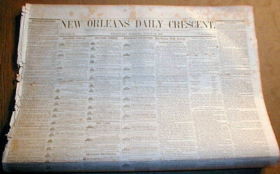 1857 New Orleans Pre CIVIL WAR newspaper Essay DEFENDS SLAVERY Not Black Enough