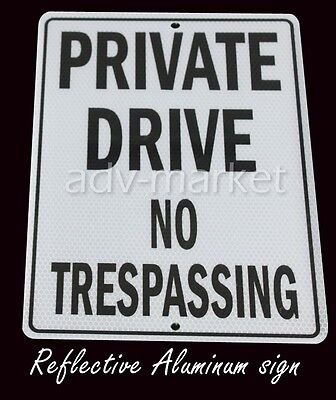 FAS145 Private Drive No Trespassing Reflective Parking Metal Sign 9x12+Free ship
