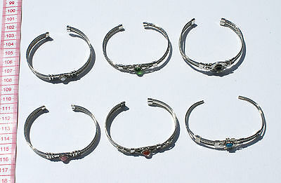 Lot 4 Cuff Bangle Decorated Metal Bracelets Handmade Ethnic Tribal Jewelry Peru