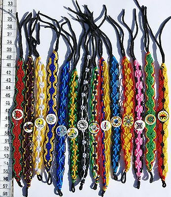 Lot 50 Macrame Friendship Bracelets with Ceramics Hand Woven Peruvian Jewelry