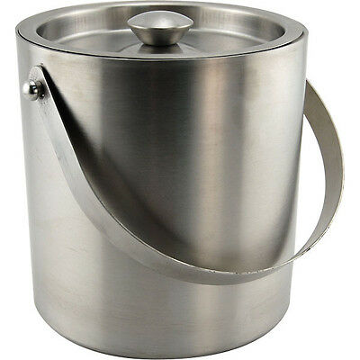 Stainless Steel Double Walled Insulated Ice Bucket- 3 Qt - Bar/Restaurant/Hotel