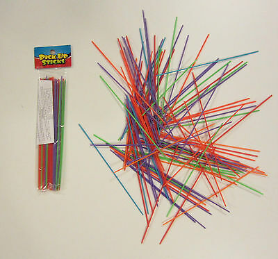 2 Sets Of New Plastic Pick Up Sticks  Pick-Up Stix Game Toy Party Favors