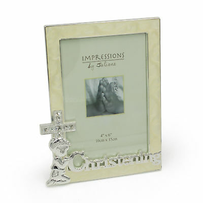 Silver Plated Adorable Christening Photo Frame Gift CG426