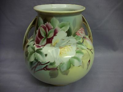 Hand painted Nippon Japan double handled vase (Damaged)