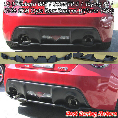Factory Style Rear Bumper Diffuser (ABS) Fits 12-16 Scion FR-S / Toyota 86