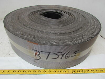 "Material Handling Longitude Ribbed Conveyor Belt 6-5/8""x375' Long 0.11"" Thick"
