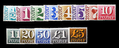GB 1970 Decimal Postage Dues Complete SGD77/89 Unmounted Mint Cat £40 FP182