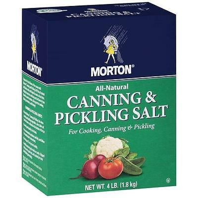 Lot of Two 4 lb. Boxes, MORTON PICKLING and CANNING SALT, FREE USA SHIPPING