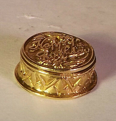 14k GOLD VINTAGE MOVABLE HAPPY BIRTHDAY CAKE OPENS UP TO ENAMELED CANDLE 3.gr