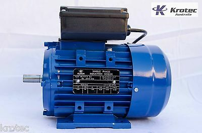 Electric motor single-phase 240v 0.25kw 1/3hp 1400rpm