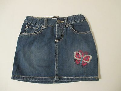 Girls THE CHILDREN'S PLACE Denim Skirt w/Butterfly:Great for School! Size 10 EUC