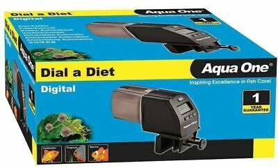 #12048 Aqua One Dial A Diet Digital Automatic Feeder Fish Food Dispenser Holiday
