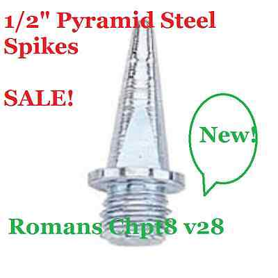 "Pyramid 1/2"" Replacement Steel Track & Field Spikes Pack of 100 Running"