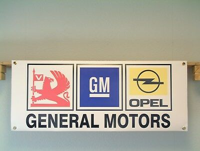 Vauxhall Opel GM workshop banner.