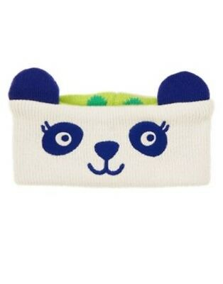 Gymboree Color Happy Panda Sweater Ear Warmer 1-Size Nwt