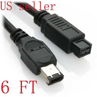 6 FT 9 to 6 PIN IEEE1394B 6' FIREWIRE 800 400 CABLE 6FT