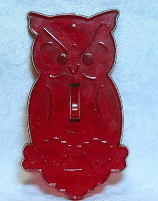 Hrm Vintage Design New Red Plastic Cookie Cutter -  Owl Nature Halloween School