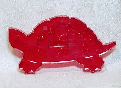 HRM Vintage Design Red Plastic Cookie Cutter - Turtle Tortoise Nature Fable Pet