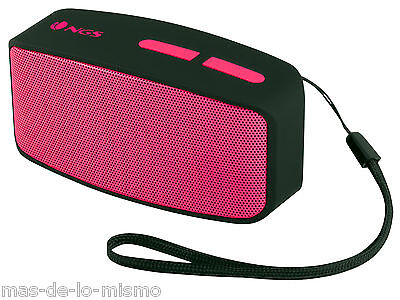 Altavoz Bluetooth NGS Pink Roller Fun Reproductor MP3 Radio FM AUX Ranura SD Mic