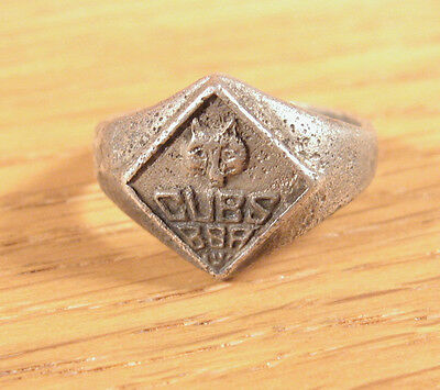 Vtg Cub Scout BSA Wolf Ring Sterling Silver .925 Sz 6 Boy Scouts of America Girl