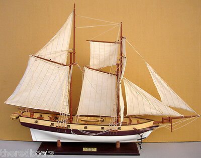 "LYNX Tall Ship 30"" - Handmade Wooden Boat Model"