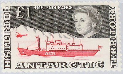 BAT BRITISH ANTARCTIC 1969 24 HMS Endurance & Helicopeter Queen Def Ship MNH