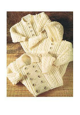 Knitting Patterns Baby Child's Aran Cardigans Jackets Vintage PATTERN ONLY ±ch12