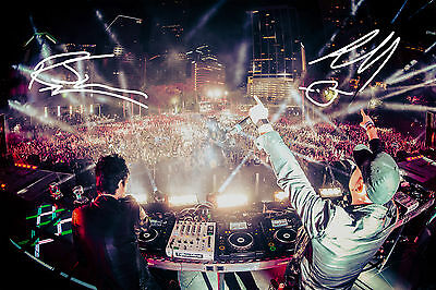 KNIFE PARTY  SIGNED PHOTO PRINT - HIGH QUALITY - ROB SWIRE & GARETH MCGRILLEN