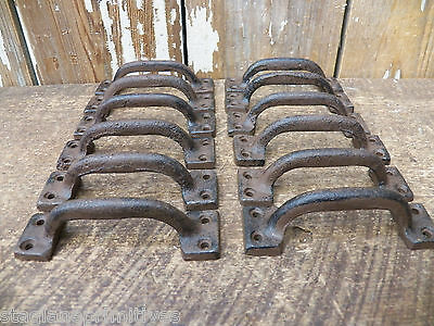 "Lot 12 Rustic New 3 1/2"" Cast Iron Small DRAWER PULL Handle Cupboard Cabinet"