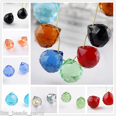20MM Crystal Glass Round Faceted Ball Chandelier Hanging Drops Pendant Beads
