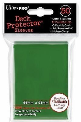 50 Bustine Protettive Ultra PRO Magic GREEN Verde Standard Sleeves Buste Deck