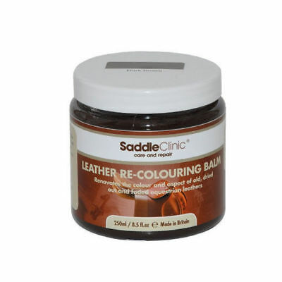SADDLE CLINIC LEATHER RE-COLOURING BALM restore colour to scuffed faded leather