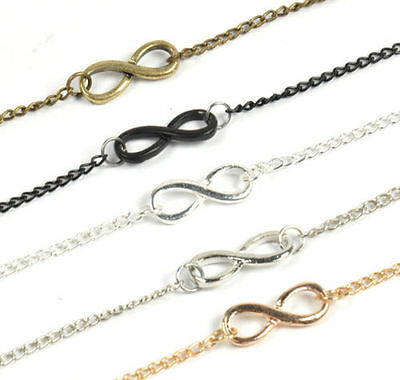 Alloy Infinity Bracelet Number 8 Digit Charm Chain Wedding Beach Women 5 Colors