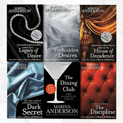 Fifty Shades Fans Marina Anderson Collection 6 Books Set