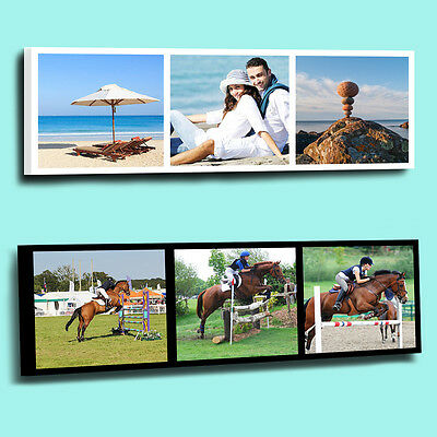 FANTASTIC Personalised  3 Photo Picture Collage Printed on to a framed canvas
