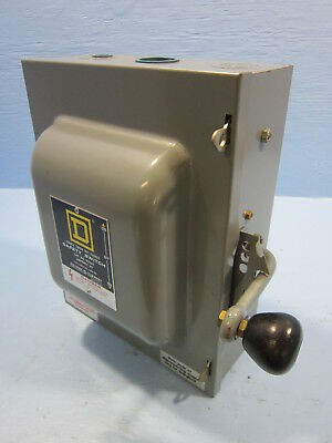 Square D 82262 Double Throw Safety Switch 60 Amp 600V Manual Transfer Switch E2