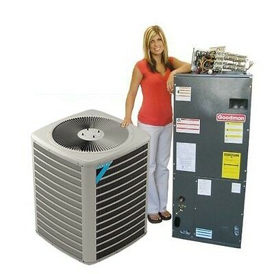 5 Ton Commercial Heat Pump System by Daikin/Goodman 208-230V 3 phase