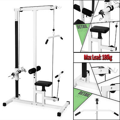 Multi Gym Lat Pull Down Workstation Home Fitness Work Out Machine Bench Exercise