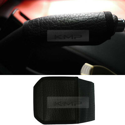 For Car Truck Sedan SUV Parking Hand Brake Handle leather Cover (Black)