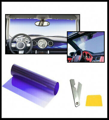 Car Van Sun Visor Windscreen Film Tint Strip BLUE Sunvisor Windshield SUV Camper