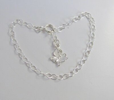 Sterling Silver Baby Children's Bracelet / Anklet w Butterfly Charm
