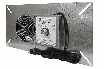 Tjernlund V1D Crawl Space Ventilator with Dehumidistat - Exhaust Fan 110 CFM