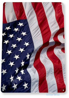 TIN SIGN American Flying Flag Metal Décor Wall Art Store Shop A213